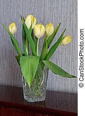 gelber , tulips.