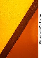 gelber , und, orange, farben