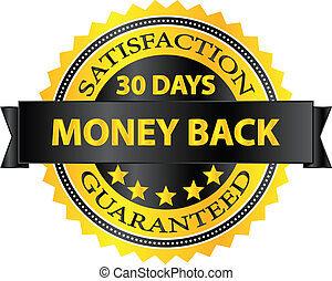 geld, abzeichen, zurück, guaranteed