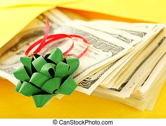 geld, als, cadeau