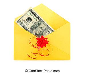 geld, als, een, cadeau