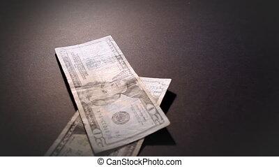 geld, amerikanische , fallender