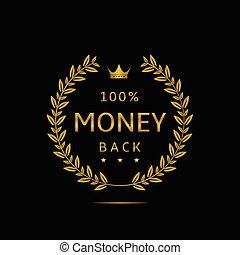 geld, back, etiket