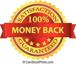 geld, badge, back
