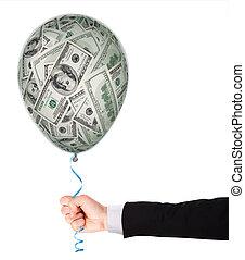 geld, begriff, balloon, investition