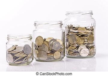geld, begriff, einsparung