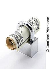 geld, begriff, einsparung, versicherung