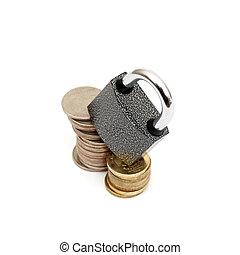 geld, begriff, verschlossen