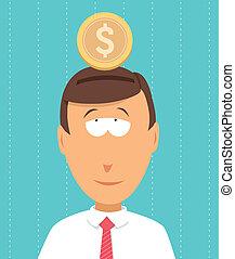 geld, besparing, begroting, /, schouwend