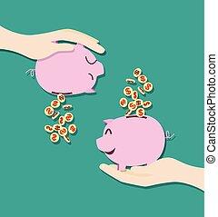 geld, besparing