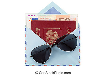 geld briefomslag, paspoort