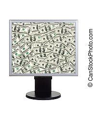 geld, computermonitor
