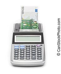 geld, concept, -, afdrukken, geld