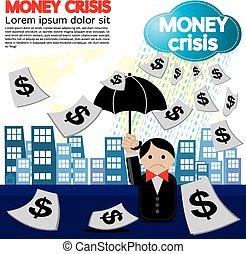 geld, conceptual., crisis