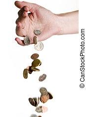 geld, fallender