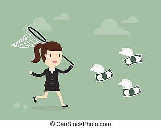geld, fangen