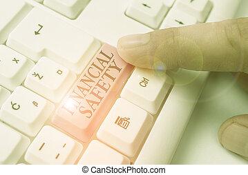 geld, finanziell, gespeichert, schreibende, text, genug, notfälle, bedeutung, begriff, goals., decke, safety., handschrift