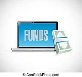 geld, fonds, design, abbildung, online
