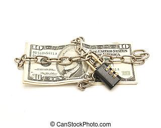 geld, geketeende