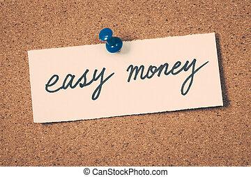 geld, gemakkelijk
