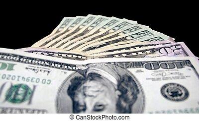 geld, gesäumt