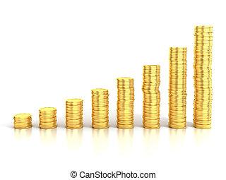 geld, groei, financieel, of, besparing