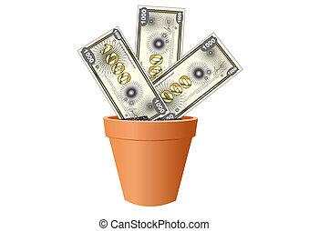 geld, groei