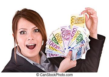 geld., gruppe, geschäftsfrauen