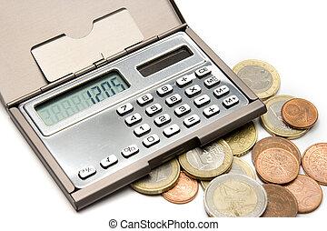 geld, het berekenen, concept