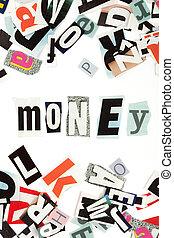 geld, inschrift