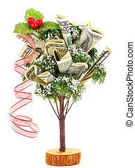 geld, kerstboom