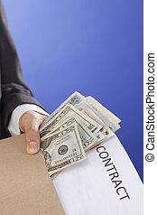geld, kopen, contracteren