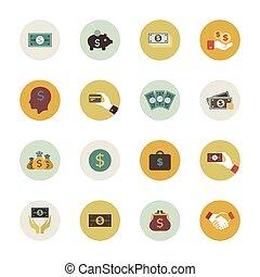 geld, kreis, ikone