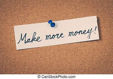 geld, maken, meer