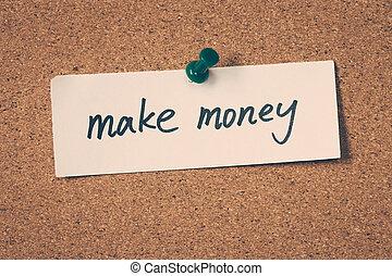geld, maken