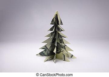 geld baum origami gemacht kugel dollarschein baum hintergrund studio zwanzig origami. Black Bedroom Furniture Sets. Home Design Ideas