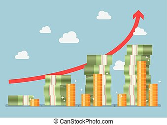 geld, pensioneringsplan, richtingwijzer, rood