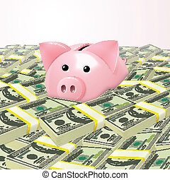 geld, piggybank, hoop