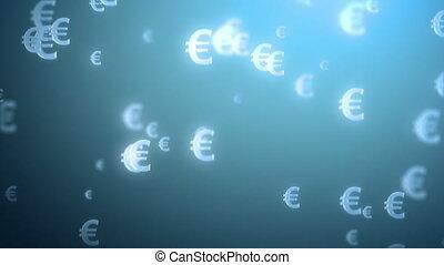 geld, regen, hintergrund, euro.