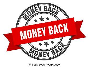 geld, rood, teken., label., band, back