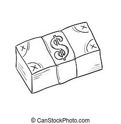 geld, schets