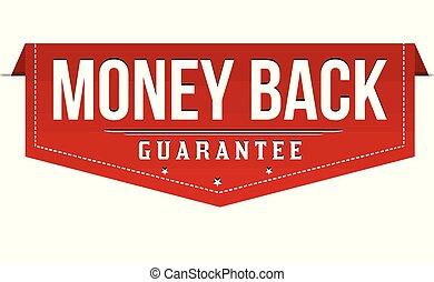 geld, sticker, etiket, of, back
