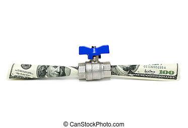 geld, strömend
