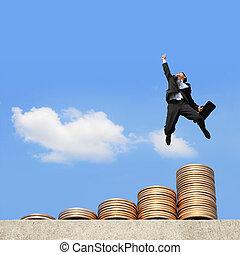 geld, uitvoeren, zakenmens