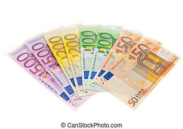 geld, van, de, europeaan, union., euro munt