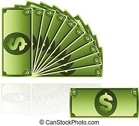 geld, vektor