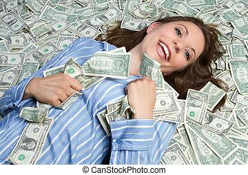 geld, vrouw