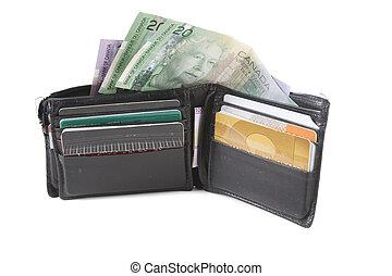 geldbörse, und, geld