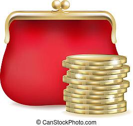 geldbeutel, rotes
