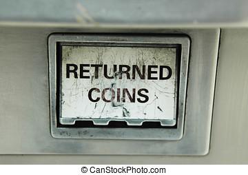 geldmünzen, zurückgegeben